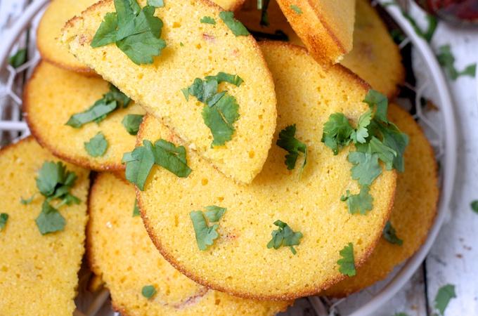 Mini jalapeño cornbread on feedingboys.co.uk for Baxters #GetTopping