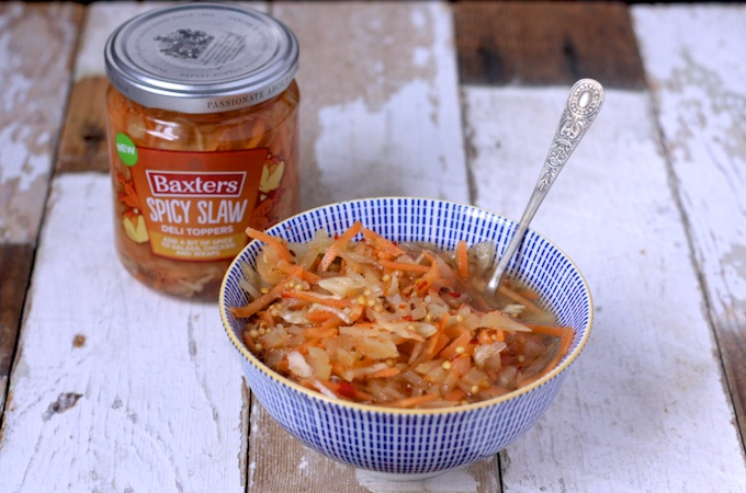 Spicy Slaw from Baxters Deli Toppers Range #GetTopping on feedingboys.co.uk