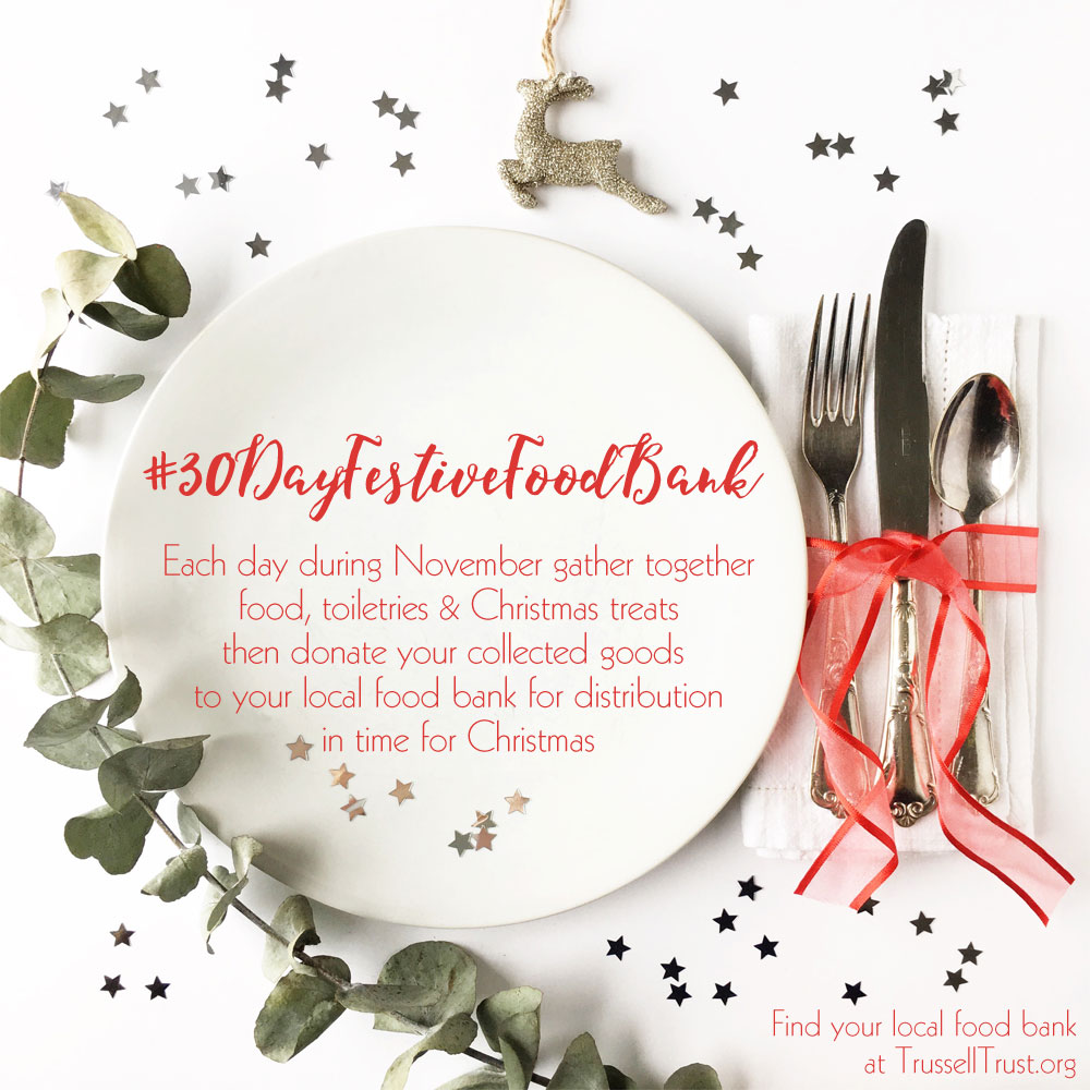 #30dayfestivefoodbank - Donate a box of festive goodies to your local food bank