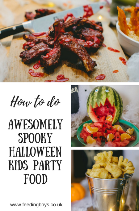 How to make awesomely spooky Halloween Kids Party Food on feedingboys.co.uk #PowerofFrozen