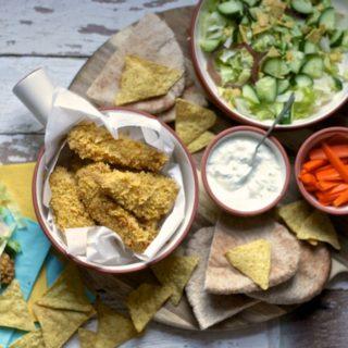 How to make easy and tasty Nacho Chicken Strips on feedingboys.co.uk