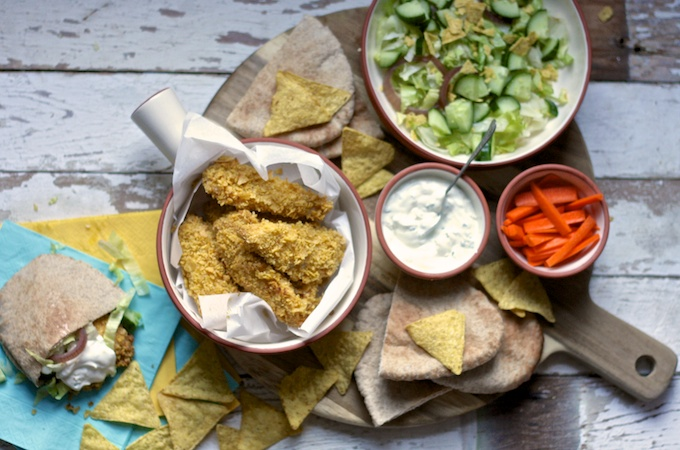 How to make easy and tasty Nacho Chicken Strips on feedingboys.co.uk