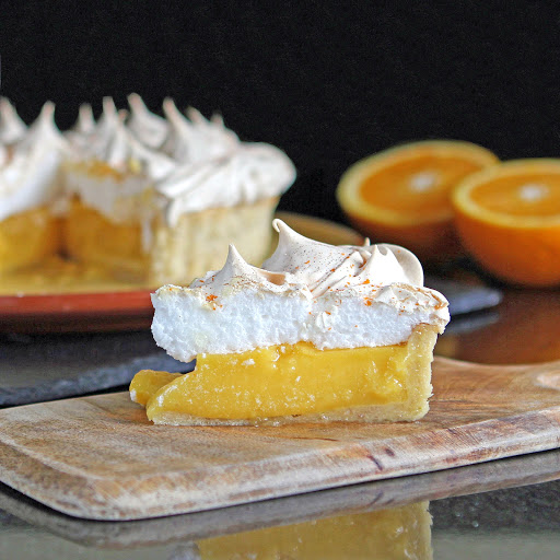 Orange & Lime Meringue Pie from The Gluten Free Alchemist for Simple and in Season
