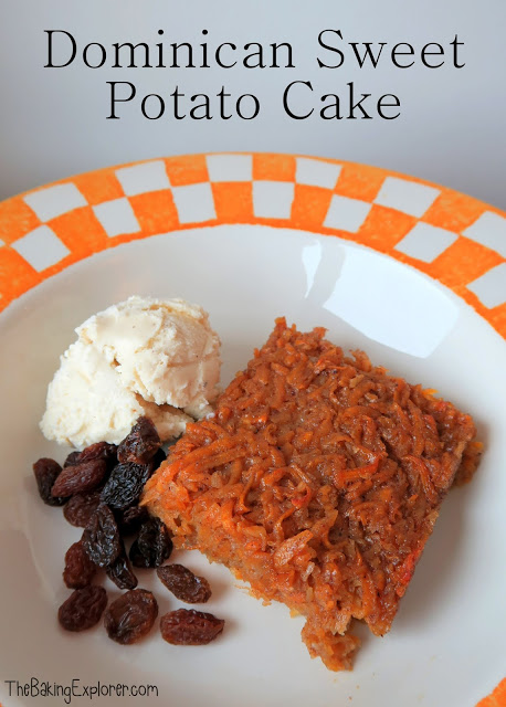 Dominican sweet potato cake from The Baking Explorer for Simple and in Season