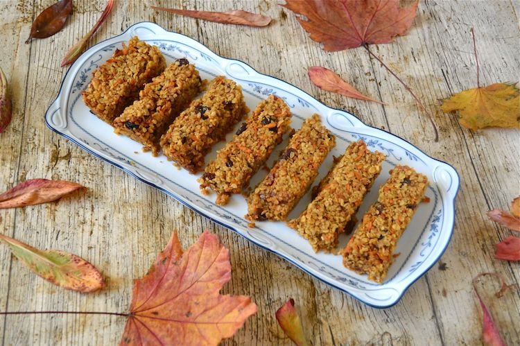 Tin and Thyme's Carrot Cake Flapjacks for Simple and in Season on feedingboys.co.uk