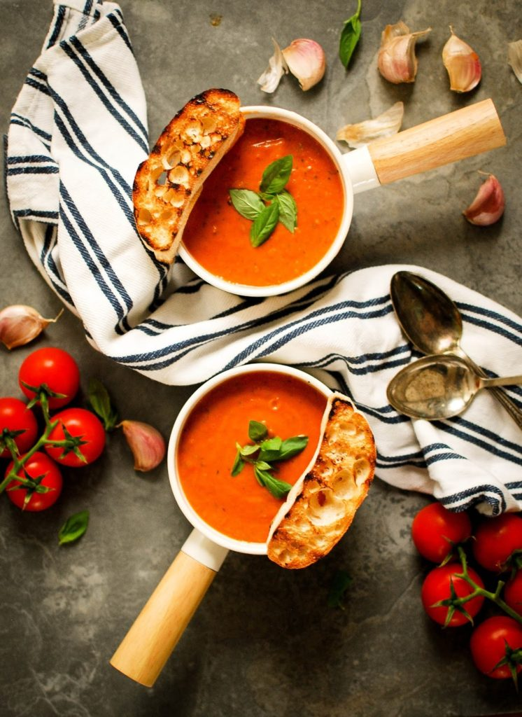 Roasted Tomato and Bread Soup from I Heart Katie's Cakes