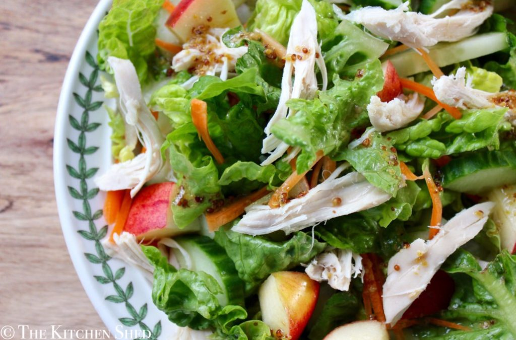 Autumn Chicken and Apple Salad from The Kitchen Shed for Simple and in Season on feedingboys.co.uk