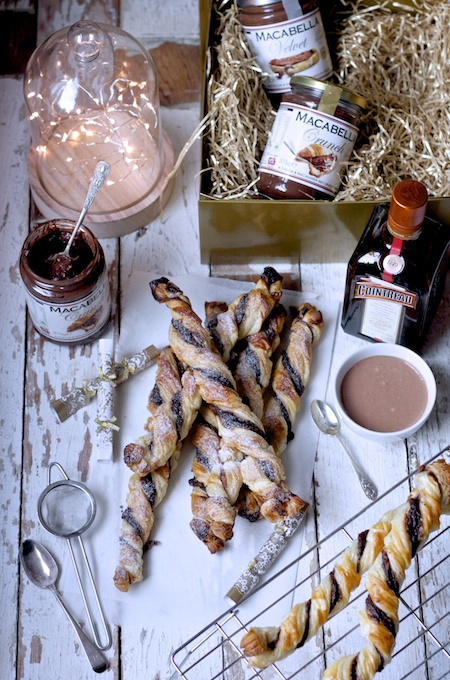 Perfect for Christmas Parties - Nutty Chocolate Macabella Twists by Katie Bryson on Feedingboys.co.uk
