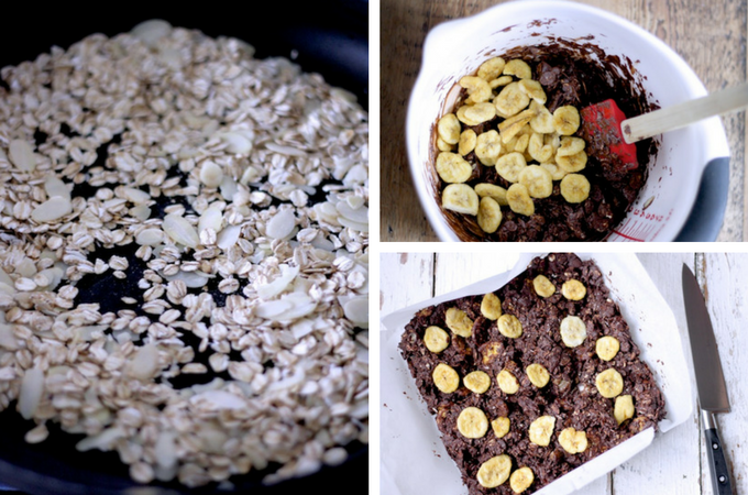 How to make Dark Chocolate, Banana and Date Fridge Cake on feedingboys,co.uk