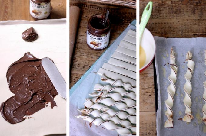 Making Macabella Nutty Chocolate Twists on Feedingboys.co.uk