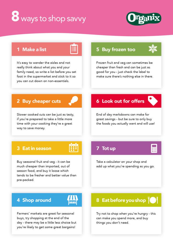 8-ways-to-shop-savvy on feedinboys.co.uk #jojunkjourney