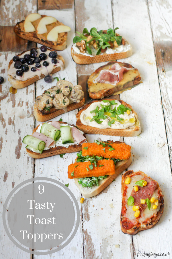 9 Tasty Toast Toppers by Katie Bryson on feedingboys.co.uk