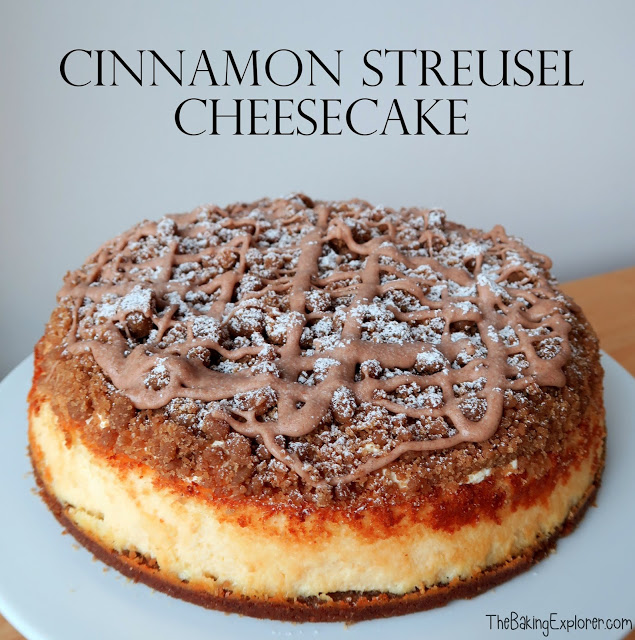 Cinnamon Streusel Cheesecake from A Baking Explorer for Simple and in Season on feedingboys.co.uk