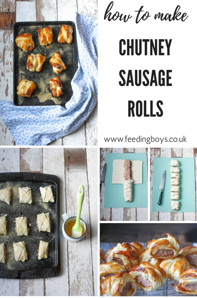 How to make easy Chutney Sausage Rolls for kids' packed lunches on feedingboys.co.uk