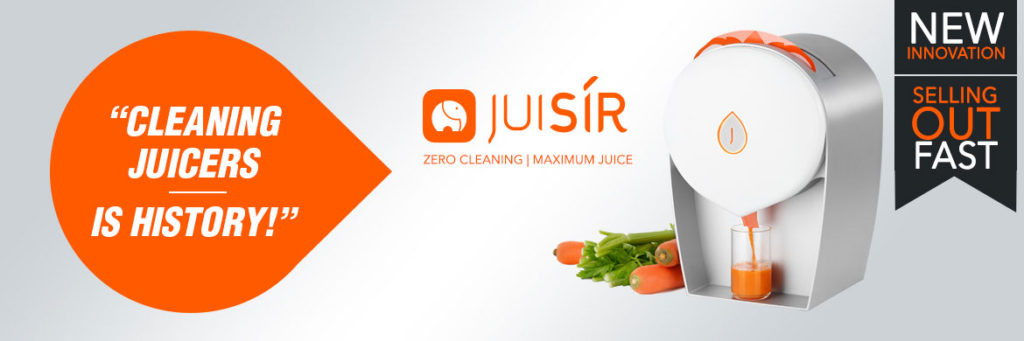New Juisir from Froothie - juicing with no washing up!