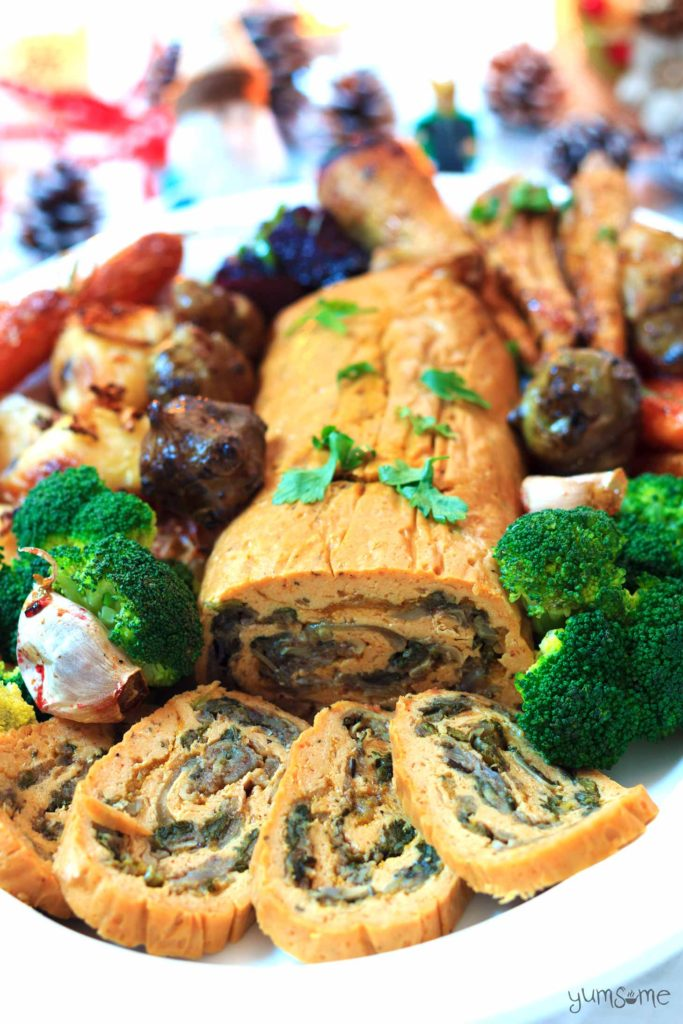 Roast Stuffed Seitan Roulade by Yumsome for Simple and in Season on feedingboys.co.uk