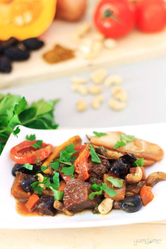 Seitan and Prune Tagine with Cashews from Yumsome for Simple and in Season on feedinboys.co.uk