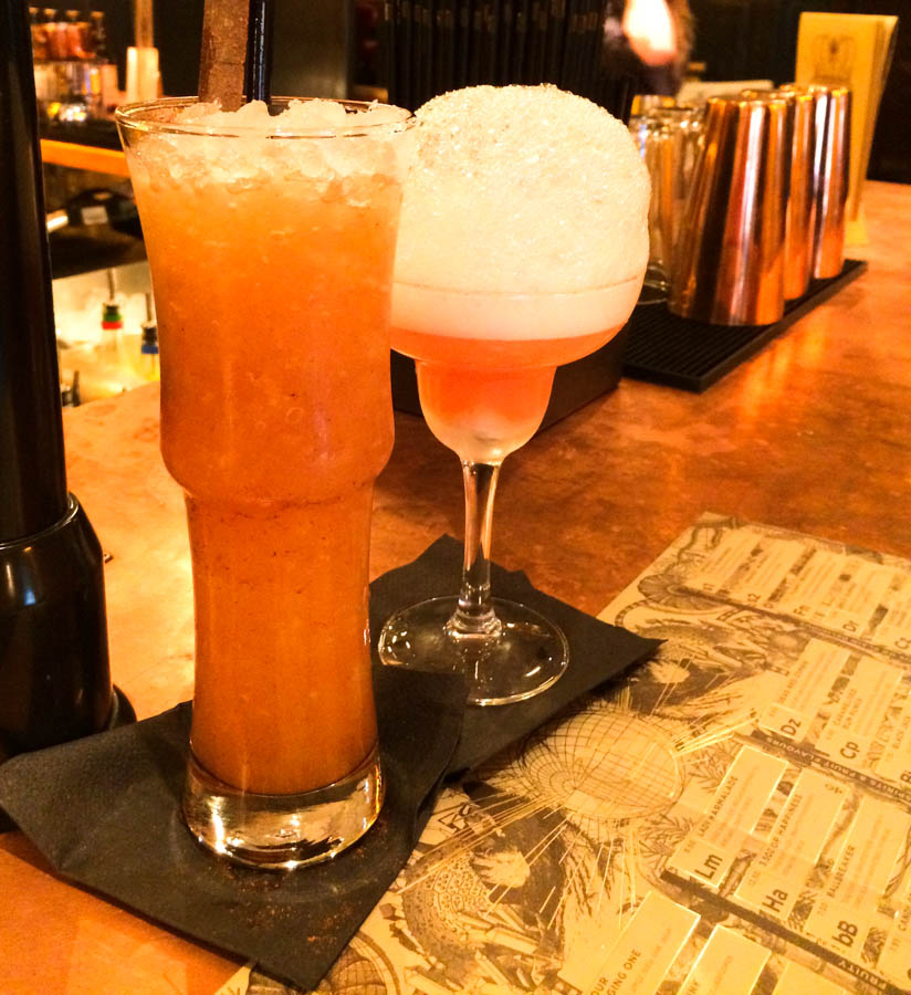 Caramelised Rum Punch and Bubblebath Cocktails at The Alchemist Newcastle reviewed by Feedingboys.co.uk
