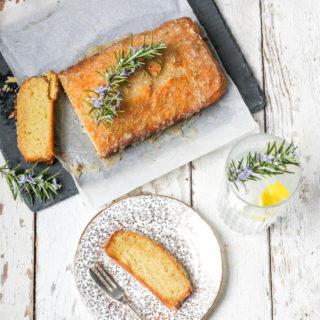 Gin, Rosemary and Lemon Drizzle Cake on feedingboys.co.uk