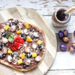 Easter Dessert: Creme Egg Nutella Pizza on feedingboys.co.uk