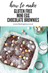How to make Mini Egg Gluten Free Chocolate Brownies on feedingboys.co.uk