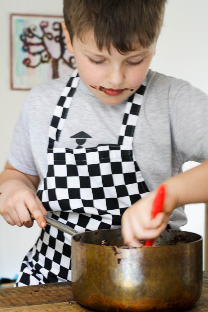 Get the kids to help you make Mini Egg Gluten Free Chocolate Brownies on feedingboys.co.uk