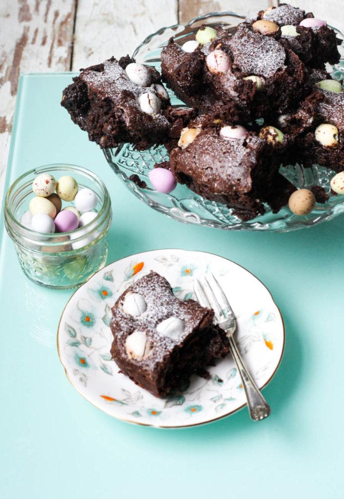 Get the kids to help you make Mini Egg Gluten Free Chocolate Brownies on feedingboys.co.uk