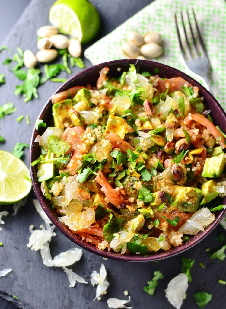 Pomelo Quinoa Smoked Salmon Salad from Everyday Healthy Recipes for Simple and in Season on feedingboys.co.uk