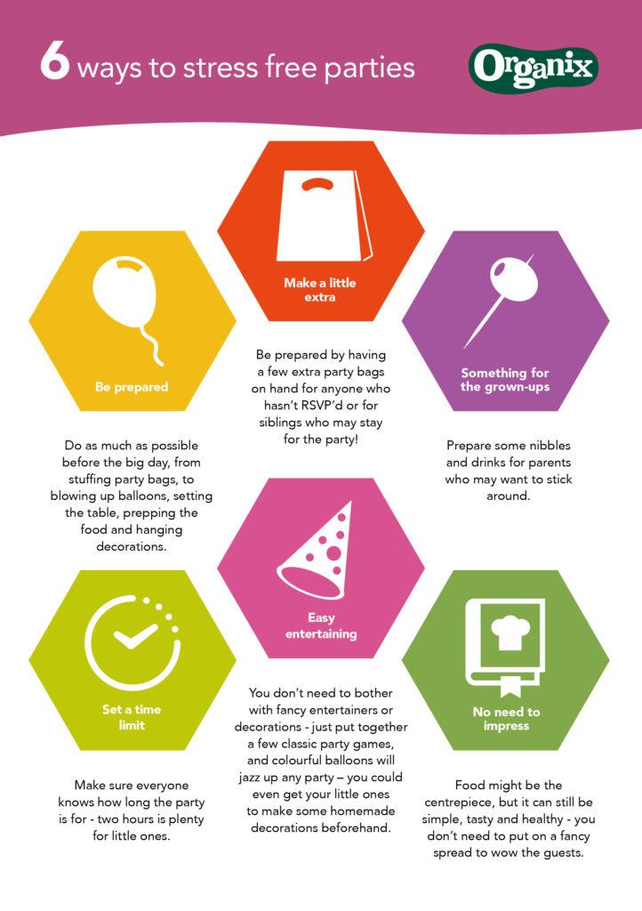 6 ways to stress free parties from Organix #NoJunkJourney on feedingboys.co.uk