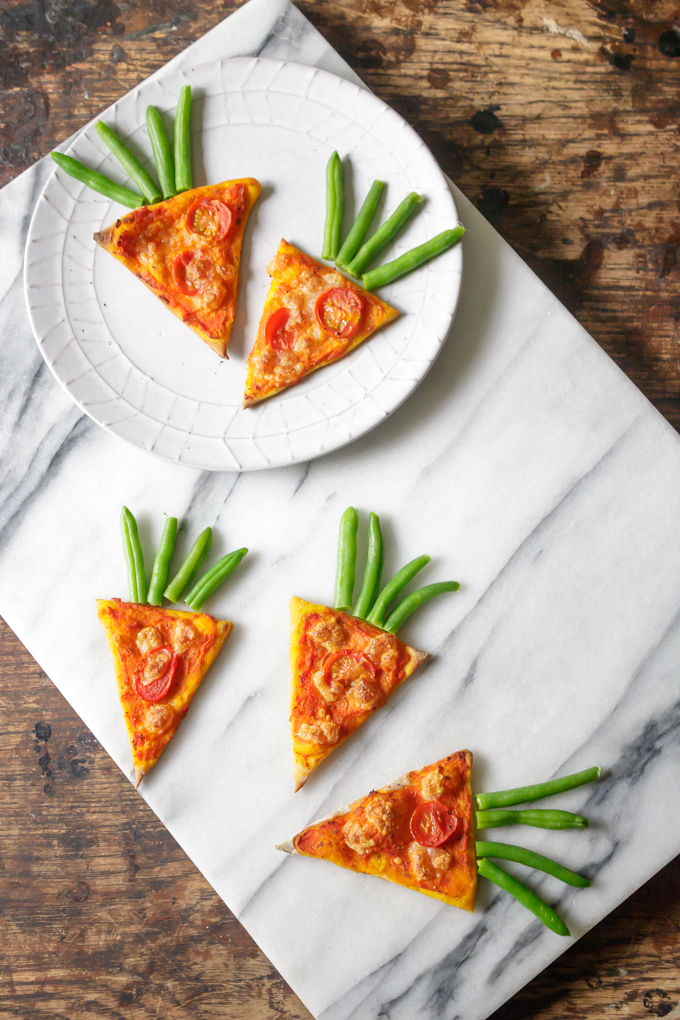 Carrot Pizza with Carrot Pizza Sauce from Veggie Desserts for Simple and in Season on feedingboys.co.uk