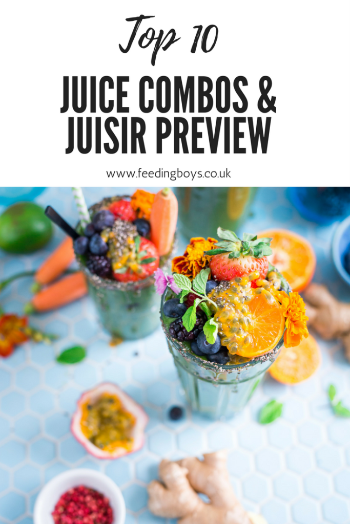 Top 10 Juice Combos and a preview of the new Juisir from feedingboys.co.uk
