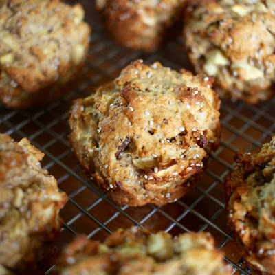 Apple, Date and Chia Muffins from the Green Gourmet Giraffe for Simple and in Season on feedingboys.co.uk