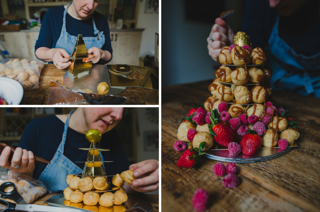 making the croquembouche on feedingboys.co.uk #poweroffrozen