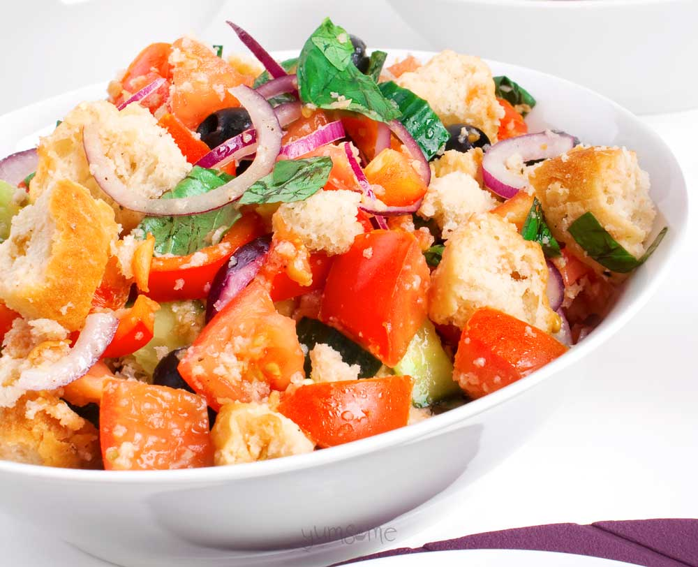 Simple Vegan Panzanella by Yumsome for Simple and in Season on feedingboys.co.uk
