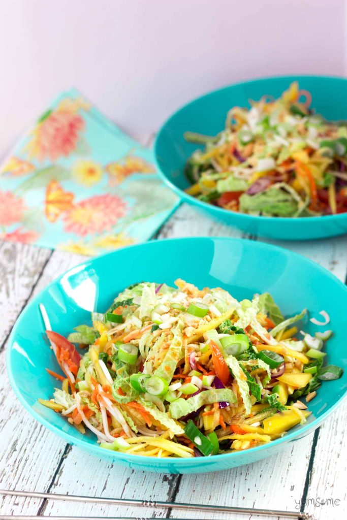 Vegan Som Tam Ma Muang (Thai Green Mango Salad)  from Yumsome for Simple and in Season on feedingboys.co.uk