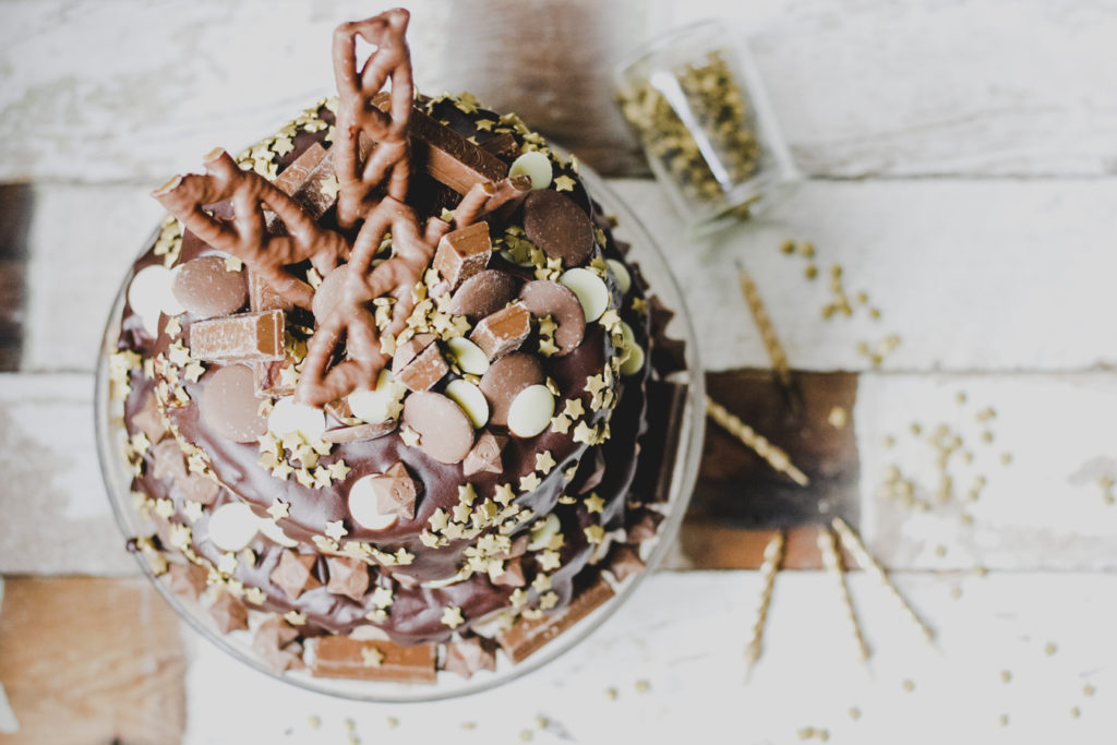Totally decadent and perfect for parties - the ultimate chocolate birthday cake by Katie Bryson on feedingboys.co.uk