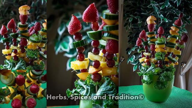 Fruit arrangement from Herbs, Spices and Tradition for Simple and in Season on feedingboys.co.uk