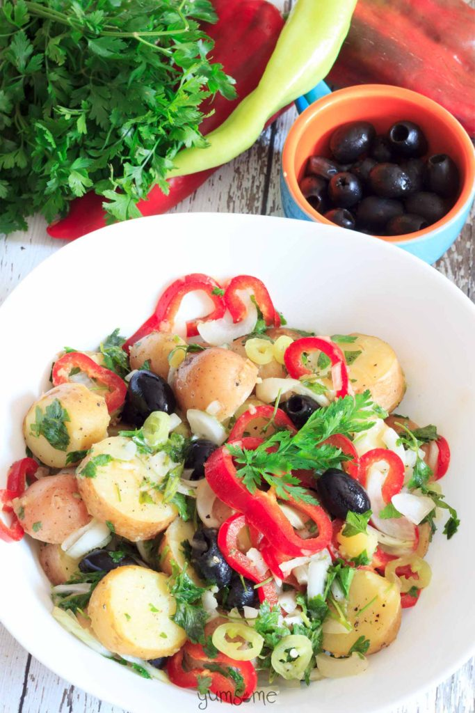 Loaded-Spring-Potato-Salad from Yumsome for Simple and in Season on feedingboys.co.uk