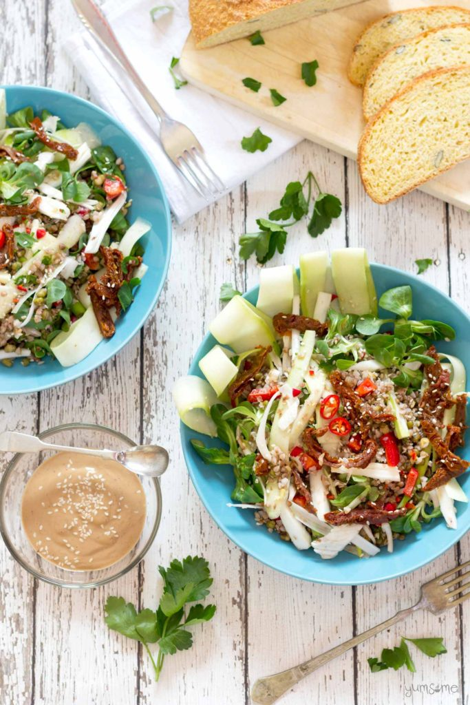 Spicy Buckwheat & Mung Bean Salad from Yumsome for Simple and in Season on feedingboys.co.uk