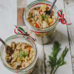 Slimming World Risotto: Chicken, Dill and Vegetable Rice Pots on feedingboys.co.uk