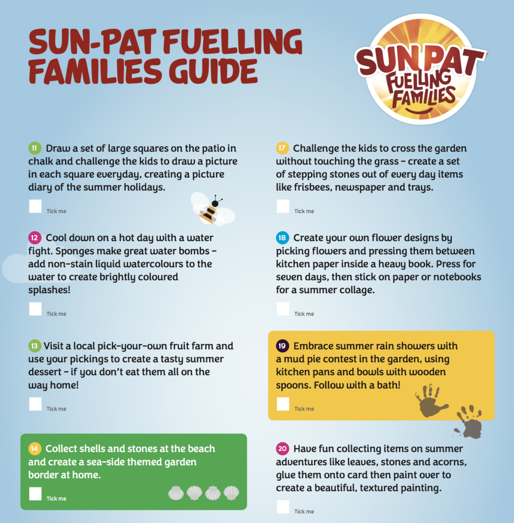 Sun-Pat Fuelling Families Guide