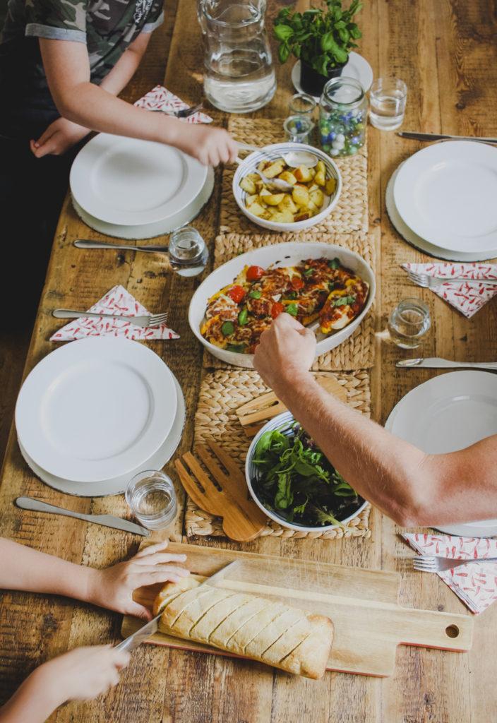 Easy Traybake Supper on feedingboys.co.uk for Dolmio
