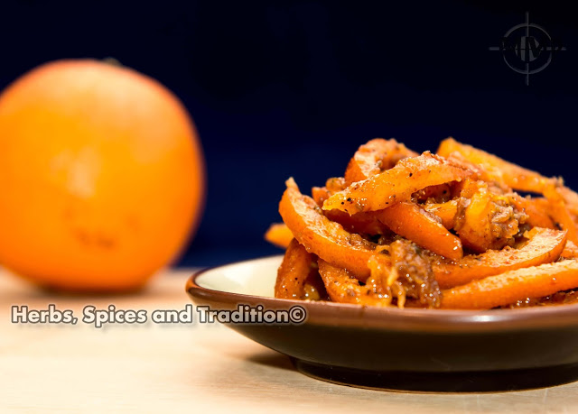 Instant Orange Peel Pickle from Herbs Spices and Tradition for Simple and in Season on feedingboys.co.uk