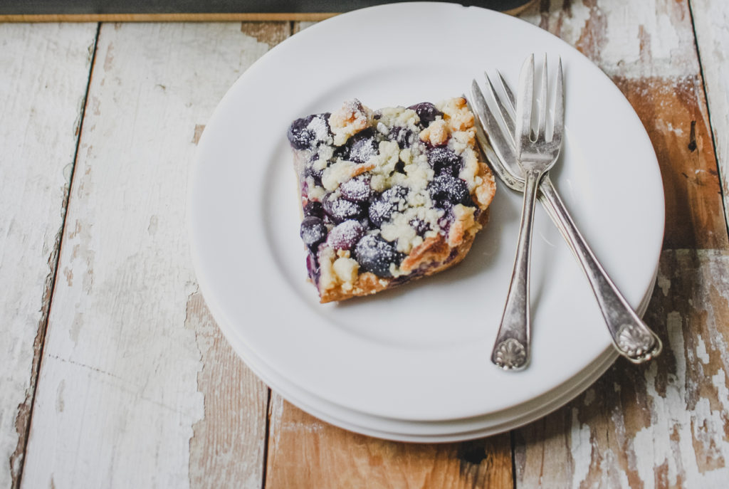 Blueberry Crumble Squares from Wild Honey & Rye by Ren Behan