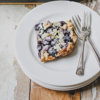 Blueberry Crumble Squares from Wild Honey & Rye