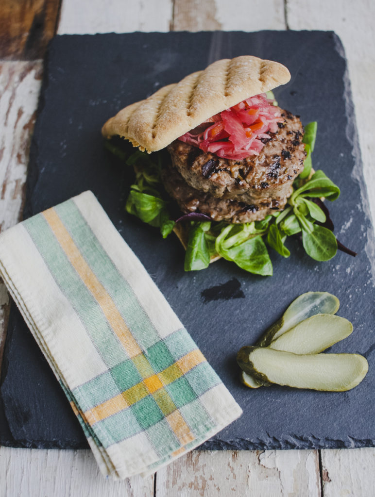 Slimming World Friendly Caramelised Onion Burgers on feedingboys.co.uk