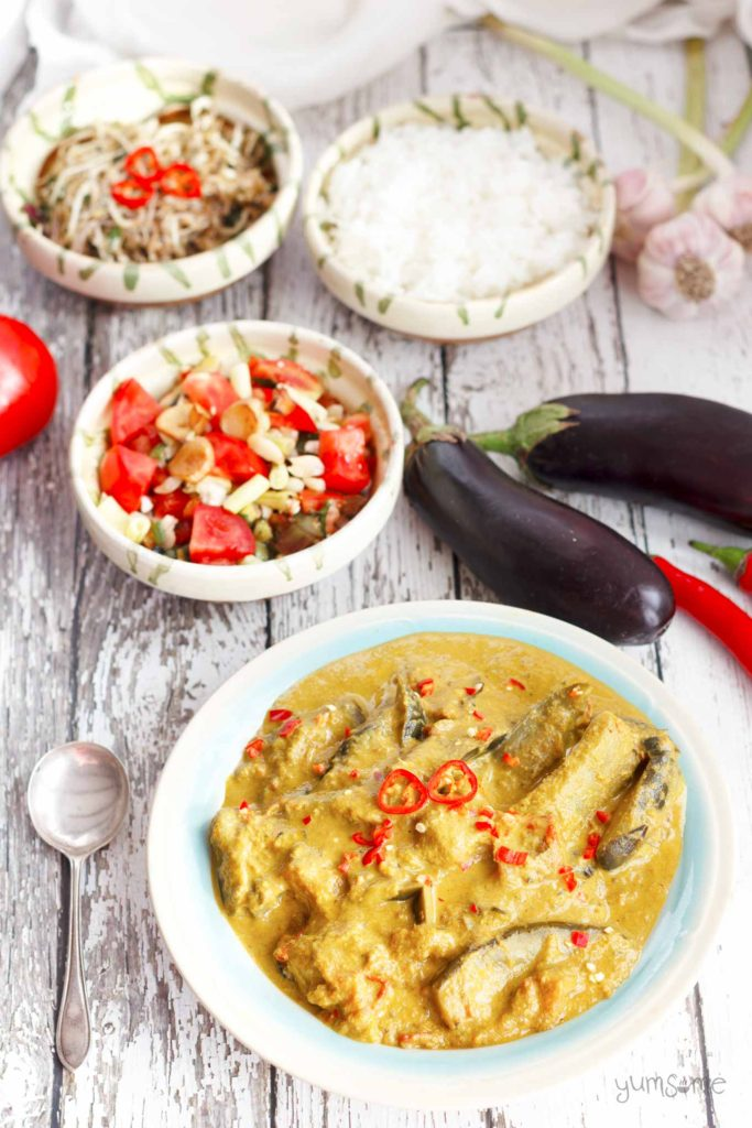 Vegan Burmese Eggplant Curry from Yumsome for Simple and in Season on feedinboys.co.uk