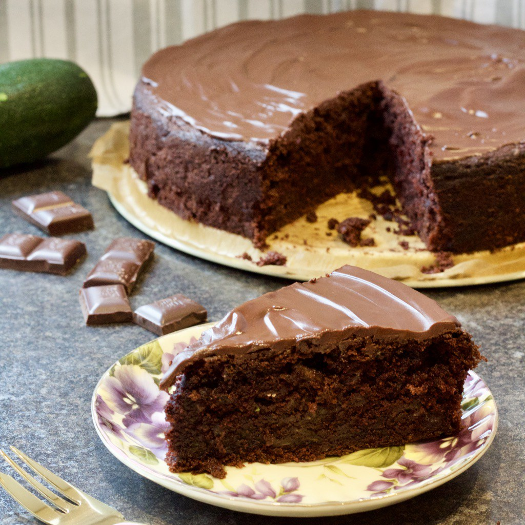Best Ever Chocolate Courgette Cake from Jo's Kitchen Larder for Simple and in Season on feedingboys.co.uk