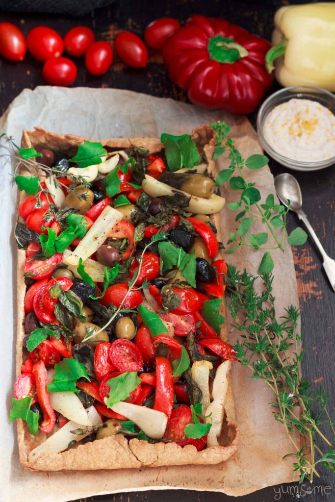 Mediterranean Summer Tart from Yumsome for Simple and in Season on feedingboys.co.uk