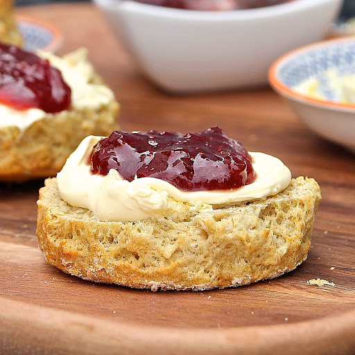 Best Ever Gluten Free Scones with low sugar Strawberry Jam from Gluten Free Alchemist for Simple and in Season on feedingboys.co.uk